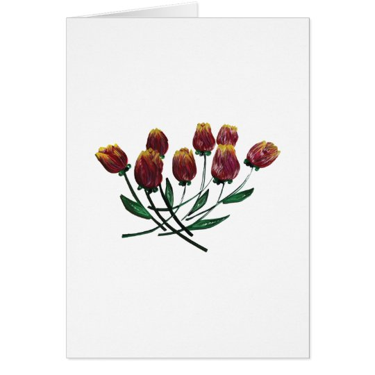 Quilled Tulips Greeting card - vertical