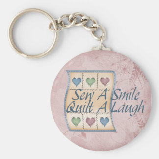 Quilt a Laugh Key Ring