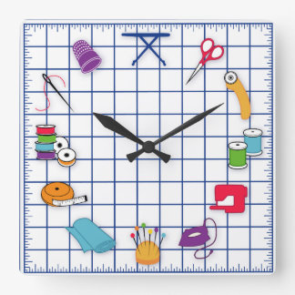 Quilt and Sew Time Clocks
