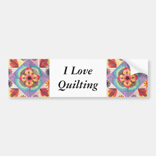 Quilt Art by Skinny Bones Bumper Stickers