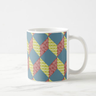 Quilt Baby Block Pattern in Retro Colors Coffee Mug