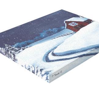 Quilt barn canvas print