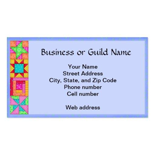 quilt block art periwinkle lavender business card. Black Bedroom Furniture Sets. Home Design Ideas