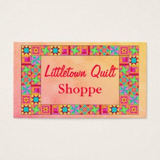 Quilt Block Border Colorful Patchwork Promotion Business Card