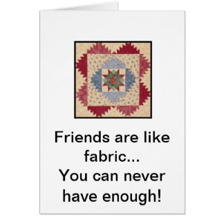 Quilt Block Friendship Greeting Card