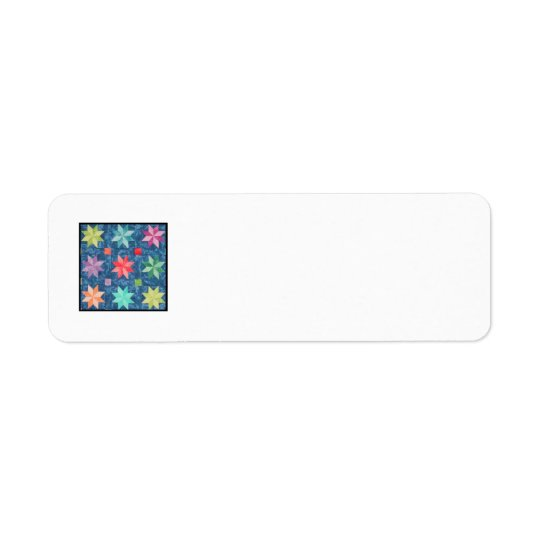 Quilt Block K Return Address Label