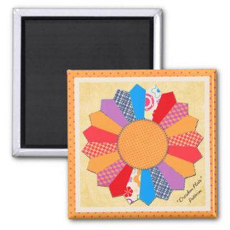 """Quilt Block Pattern """"Dresden Plate"""" Magnet"""
