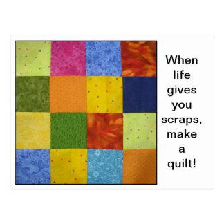 Quilt Block Quotes Postcard