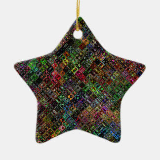 Quilt Ceramic Star Decoration
