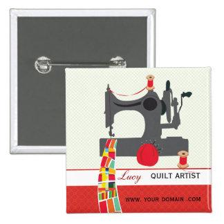 Quilt Craft Artist Name tag 15 Cm Square Badge