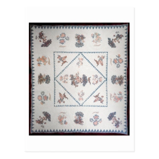Quilt in 'Broderie Perse', c.1800 (applied, printe Postcard