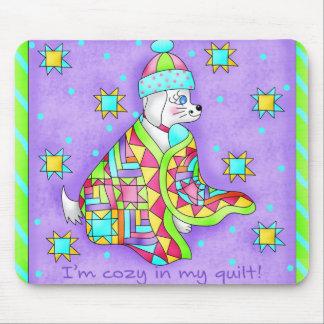 Quilt Lover Dog Mousepad