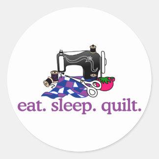 Quilt (Machine) Classic Round Sticker