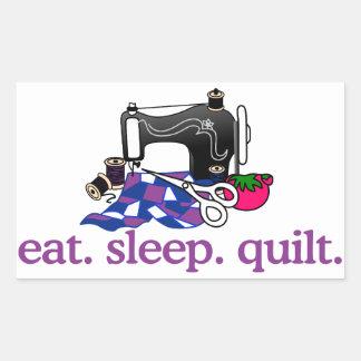 Quilt (Machine) Rectangular Sticker