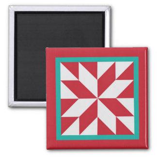 Quilt Magnet - Hunter's Star (Christmas)