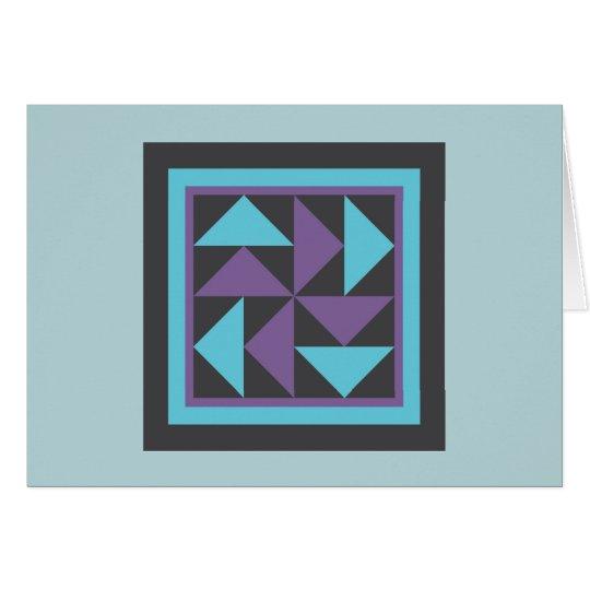 Quilt Note Cards - Dutchman's Puzzle (purple/blue)