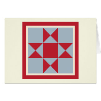 Quilt Note Cards - Ohio Star (red/grey)