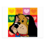 Quilt of Hearts Dog Postcard