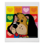 Quilt of Hearts Dog Poster