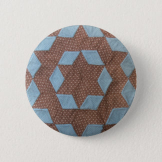 Quilt Pattern - Castle 6 Cm Round Badge
