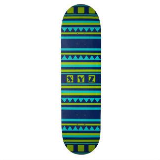 Quilt pattern cusom monogram skateboards