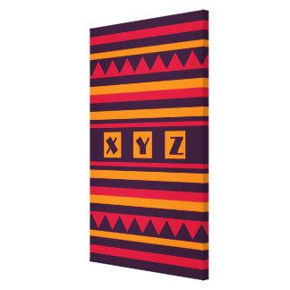 Quilt pattern custom monogram canvas print