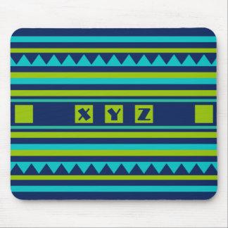 Quilt pattern custom monogram mousepad