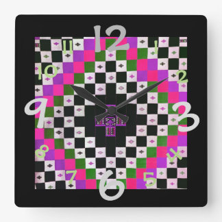 Quilt Pattern Design Clock for Art/Craft Room