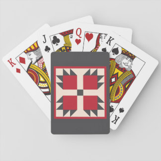 Quilt Playing Cards - Bearcats Block (red/black)