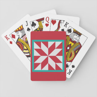 Quilt Playing Cards - Hunter's Star (Christmas)