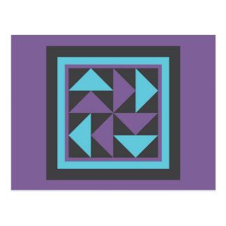Quilt Postcard - Flying Dutchman (purple/blue)
