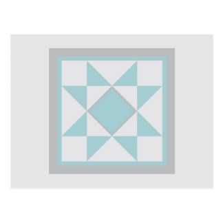 Quilt Postcard - Sawtooth Star (light blue)