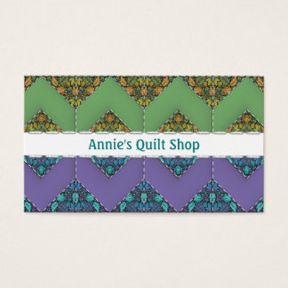 Quilt Shop or Hobby Chevron Design Business Card