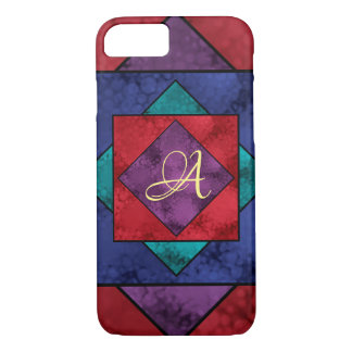 Quilt Square Monogram iPhone 8/7 Case