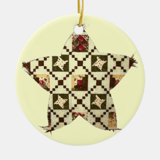 Quilt Star Christmas Ornament
