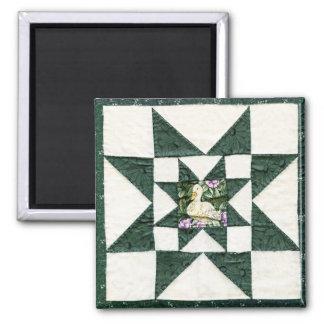 Quilt Star Duck Design Magnet