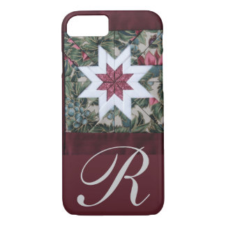 Quilt star maroon iPhone 8/7 case