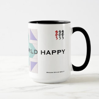 Quilt the World Happy Mug