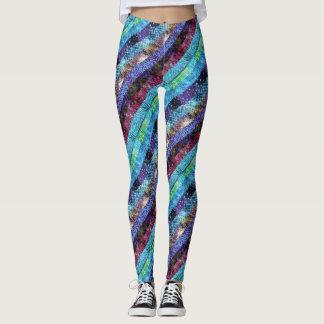 Quilt Themed Stripes Leggings