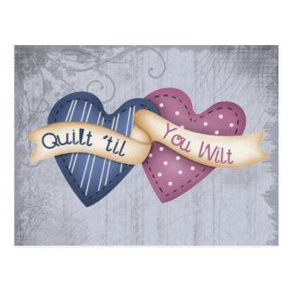 Quilt ´til you Wilt Postcard