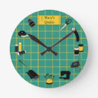 Quilt Time Customise the Label Round Clock