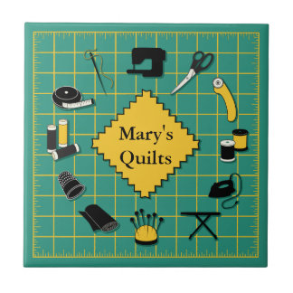 Quilt Time Customiz the Label Small Square Tile