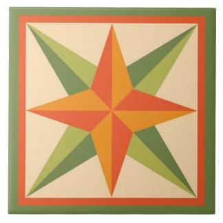 Quilt Trivet – Beveled Star Block (pink/grey)