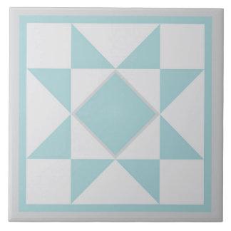 Quilt Trivet – Sawtooth Star (blue/grey)