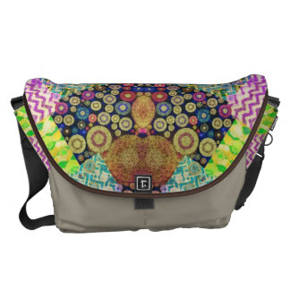 Quilted Abstract Commuter Bag