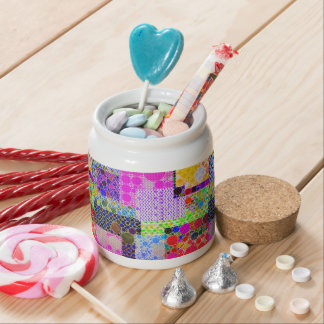 Quilted Abstract Pattern Candy Jars