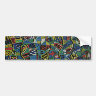 Quilted Abstraction Gift Products Bumper Sticker