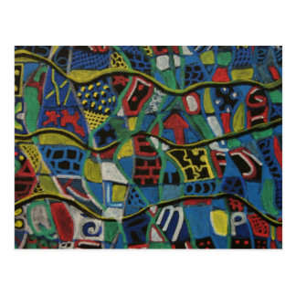 Quilted Abstraction Gift Products Postcard
