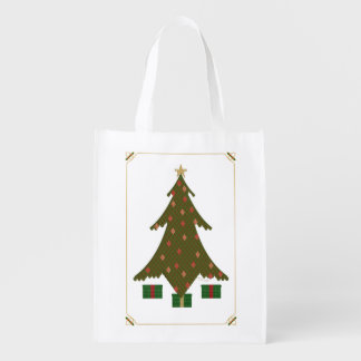 Quilted Christmas Reusable Grocery Bag