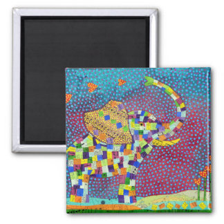 Quilted Elephant Magnet